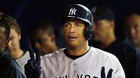 Hvězdný pálkař New Yorku Yankees Alex Rodriguez.
