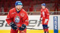 Jiří Sekáč během tréninku hokejové reprezentace.
