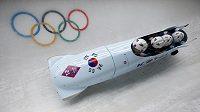 Jihokorejský čtyřbob na olympijských hrách v Soči. Ilustrační foto.