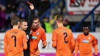Plzeňský obránce Lukáš Hejda zápas v Liberci nedohrál, dostal červenou kartu.
