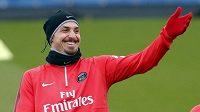 Zlatan Ibrahimovicna tréninku.
