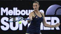 Karolína Plíšková v osmifinále turnaje v Melbourne.