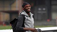 Jamajský sprinter Usain Bolt po příletu do Ostravy.