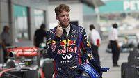 Sebastian Vettel po kvalifikaci na Velkou cenu Malajsie formule 1.
