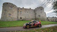 Martin Prokop s Fordem Fiesta WRC na trati Britské rallye 2014.