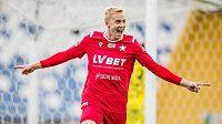 Michal Frydrych se raduje z gólu v dresu Wisly Krakow.