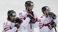 Zklamaní hokejisté Švýcarska po druhé porážce na MS. Po Kazachstánu nestačili ani na Norsko.