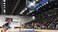V nově zrekonstruované basketbalové hale Královka se odehrálo utkání Euroligy basketbalu žen mezi ZVVZ USK Praha - Good Angels Košice.