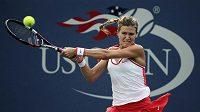 Kanadská tenistka Eugenie Bouchardová při zápase 3. kola US Open proti Slovence Dominice Cibulkové.