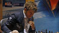 Norský vyzývatel Magnus Carlsen.