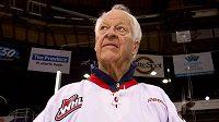 Legendární hokejový útočník Gordie Howe.