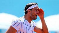Bulharský tenista Grigor Dimitrov během exhibičního turnaje v Bělehradě