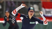 Rakušanka Vanessa Herzogovoá po triumfu na 500 m.