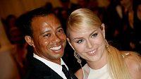 Lindsey Vonnová se svým přítelem Tigerem Woodsem.