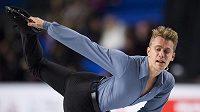 Michal Březina při krátkém programu ve Vancouveru.