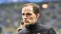 Thomas Tuchel ještě jako kouč Dortmundu při dubnovém čtvrtfinále LM s Monakem.