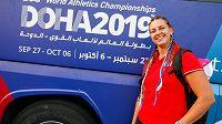 Kladivářka Kateřina Šafránková na mistrovství světa v Dauhá.
