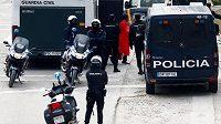 Španělská policie v akci - ilustrační foto.