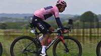 Kolumbijský cyklista Egan Bernal byl ve 14. etapě Gira d'Italia