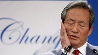 Bývalý místopředseda Mezinárodní fotbalové federace FIFA Čong Mong-jun.