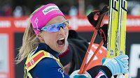 Norka Therese Johaugová po triumfu na 15 km v Lenzerheide.