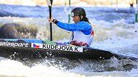Česká závodnice Kateřina Kudějová v kvalifikaci MS.