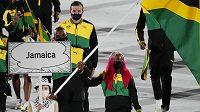 Jamajští sportovci při nástupu.