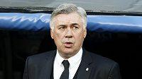 Kouč Realu Madrid Carlo Ancelotti při prvním semifinále LM s Bayernem.