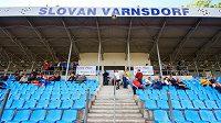 Stadión ve Varnsdorfu nevyhovuje podmínkám pro první ligu.