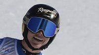 Švýcarská lyžařka Lara Gutová-Behramiová po dojezdu sjezdu na SP v italském středisku Val di Fassa.