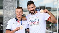 Z Tokia se vrátili rychlostní kanoisté Radek Šlouf a Josef Dostál, kteří získali bronzovou medaili na deblkajaku.