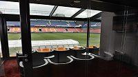 Zrekonstruktované VIP prostory v hlavní tribuně stadiónu Sparty.