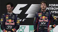 Mark Webber a Sebastian Vettel. Jako by ani nebyli z jedné stáje.