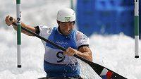 Vodní slalomář Vítězslav Gebas v olympijském kanálu.
