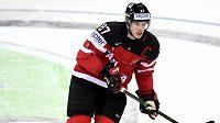 Kapitán Kanady Sidney Crosby během zápasu s Českou republikou.