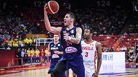 Zápas mezi Srbskem a Angolou na MS v basketballu.