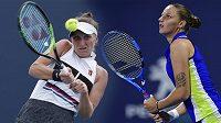 Vondroušová a Plíšková si proti sobě zahrají o semifinále turnaje v Miami.