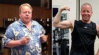 Eric O'Grey vážil 155 kilo, shodil 64 kilo. Běhal se svým kamarádem, psem.