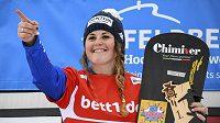 Italská snowboardistka Michela Moioliová po závodě v německém Feldbergu.