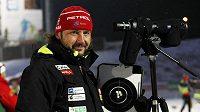Kouč slovinské reprezentace Čech Tomáš Kos během volných tréninků mužů v Novém Městě na Moravě