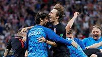 Chorvatsko postoupilo do čtvrtfinále MS 2018, radost měl i Luka Modrič, hrdina penaltového dramatu.
