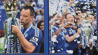 John Terry a spol. slaví titul... Mistrovské plakáty na Stamford Bridge se stávají znovu aktuálními.