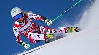 Rakouská lyžařka Eva-Maria Bremová v akci.