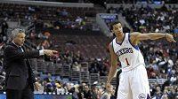 Basketbalista Philadelphie Michael Carter-Williams.