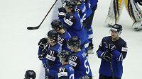 Zklamaní finští hráči po vyřazení od Švýcarů.