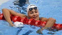Česká plavkyně Barbora Seemanová po finále olympijských her na 200 metrů volným způsobem.