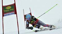 Ted Ligety při obřím slalomu ve slovinské Kranjské Goře.