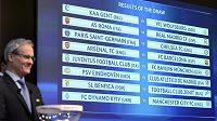 Výsledky losu osmifinále Ligy mistrů.