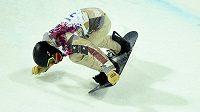 Američan Shaun White na olypijské U-rampě, kde favorit na medaili nedosáhl.