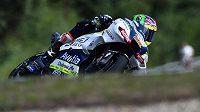 Jezdec kategorie MotoGP Karel Abraham během brněnského závodu.